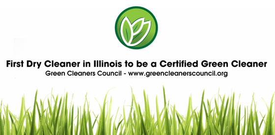 Davis Imperial Cleaners is the first dry cleaner in Illinois to be a Certified Green Cleaner